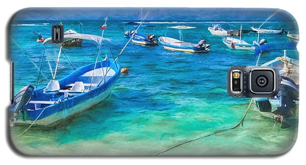 Fishing Boats Galaxy S5 Case by Peggy Hughes