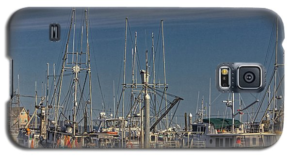 Fishing Boats With Eagle Galaxy S5 Case by Timothy Latta