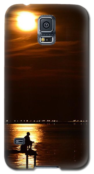Fishing By Moonlight01 Galaxy S5 Case by Jeff at JSJ Photography