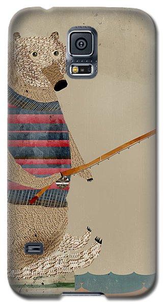 Brown Bear Galaxy S5 Case - Fishing For Supper by Bleu Bri