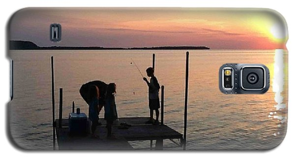 Fishing From The Dock In The Sunset Galaxy S5 Case