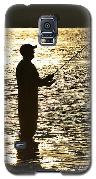 Fishing In Golden Time Galaxy S5 Case by Joan McArthur