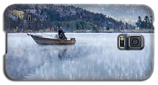 Fishing Into Silver Galaxy S5 Case