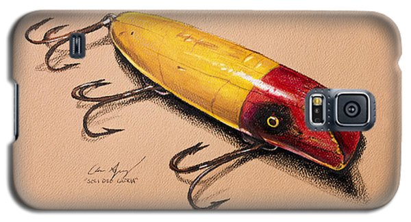 Galaxy S5 Case featuring the painting Fishing Lure by Aaron Spong