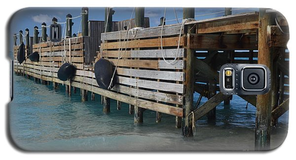 Galaxy S5 Case featuring the photograph Fishing Pier by Judy Wolinsky