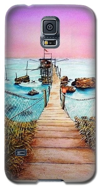 Galaxy S5 Case featuring the painting Fishing Pier by Richard Benson
