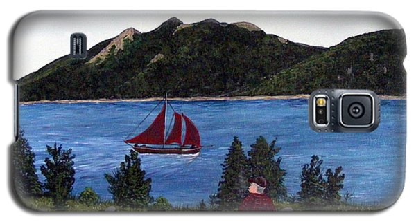 Galaxy S5 Case featuring the painting Fishing Schooner by Barbara Griffin