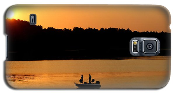 Galaxy S5 Case featuring the photograph Fishing Silhouette  by Kathy  White