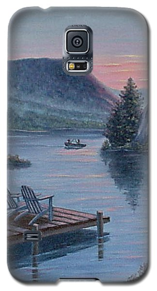 Galaxy S5 Case featuring the painting Fishing Spot For Two by Fran Brooks