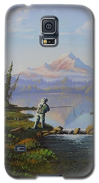 Fishing The High Lakes Galaxy S5 Case by Richard Faulkner