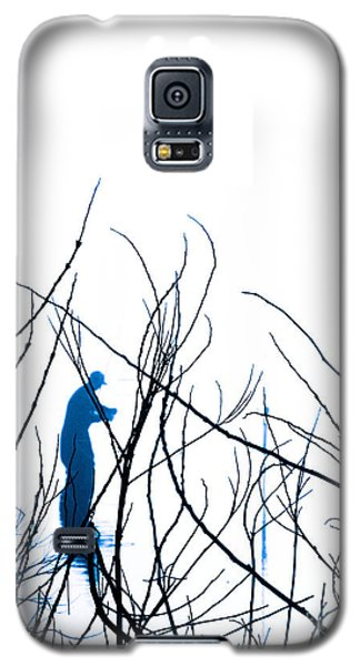 Galaxy S5 Case featuring the photograph Fishing The River Blue by Robyn King