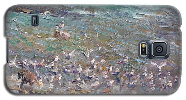 Seagull Galaxy S5 Case - Fishing Time by Ylli Haruni