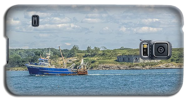Galaxy S5 Case featuring the photograph Fishing Trawler Coming Into Port by Jane Luxton