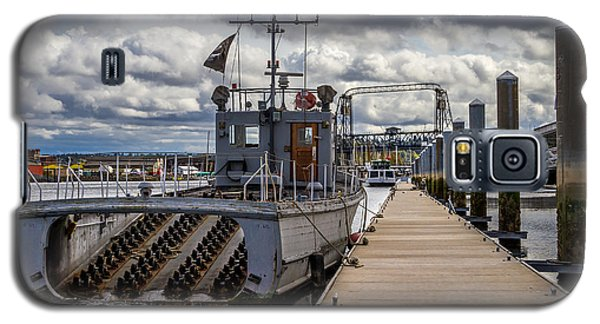 Galaxy S5 Case featuring the photograph Fishing Vessel Tied Up At The Pier by Rob Green