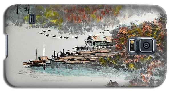 Galaxy S5 Case featuring the photograph Fishing Village In Autumn by Yufeng Wang