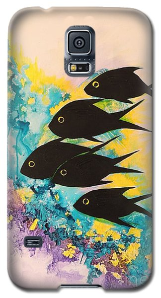 Five Black Fish Galaxy S5 Case by Lyn Olsen