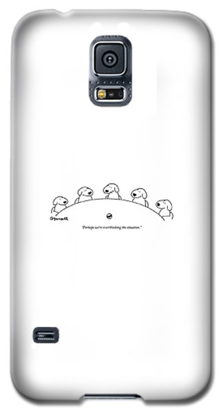 Five Dogs Sitting Around A Roundtable Galaxy S5 Case