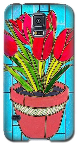 Five Red Tulips Galaxy S5 Case