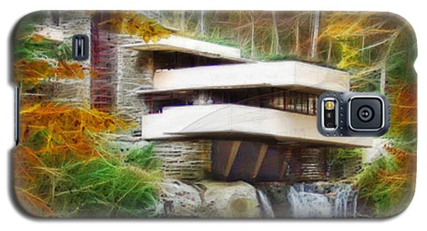 Fixer Upper - Square Version - Frank Lloyd Wright's Fallingwater Galaxy S5 Case