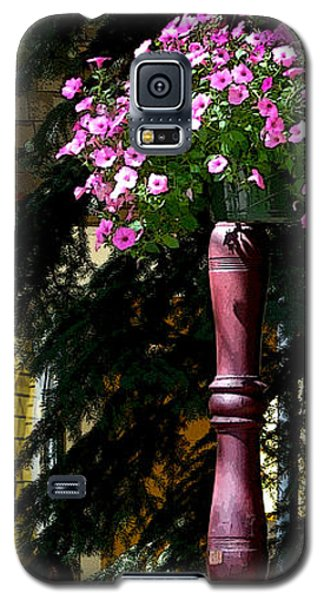 Flag And Flowers 6110 Pe Galaxy S5 Case by Jerry Sodorff