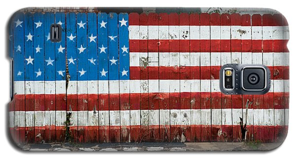 Galaxy S5 Case featuring the photograph Flag Fence by Bud Simpson