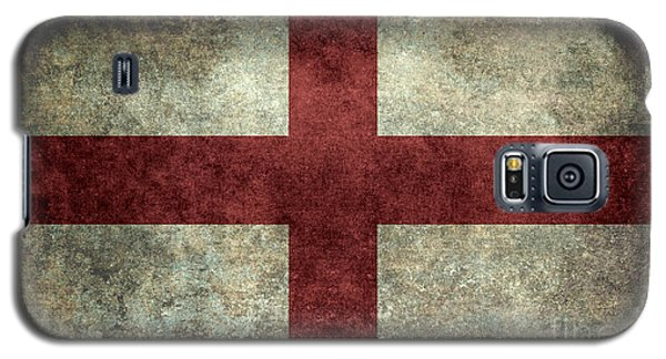 Flag Of England St Georges Cross Vintage Version To Scale Galaxy S5 Case by Bruce Stanfield