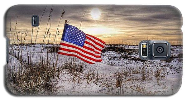 Flag On The Beach Galaxy S5 Case