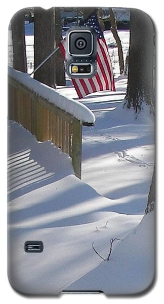 Flag Over Morning Snow Galaxy S5 Case