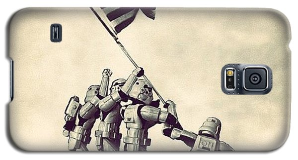 Patriotic Galaxy S5 Case - Flag Raising On Iwo Jima - Star Wars by Tony Leone
