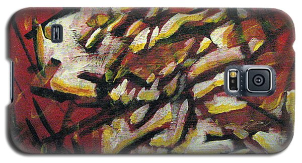 Galaxy S5 Case featuring the painting Flame-hearted by Wendy Coulson