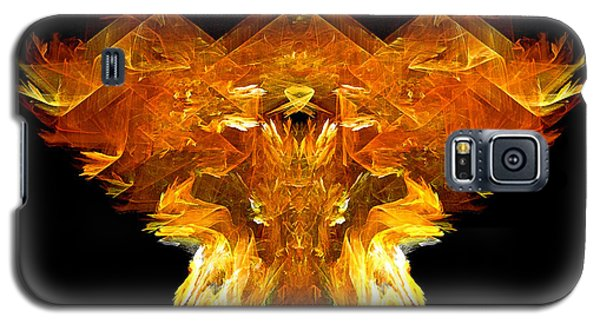 Galaxy S5 Case featuring the digital art Flame Rider by R Thomas Brass