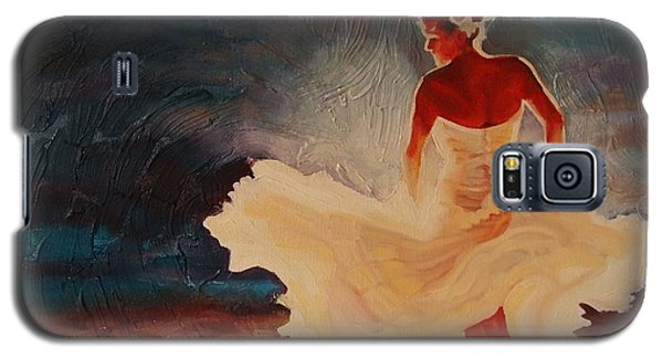 Galaxy S5 Case featuring the painting Flamenco Allure by Janet McDonald