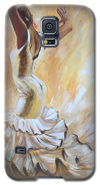 Flamenco Dancer In White Dress Galaxy S5 Case by Sheri  Chakamian