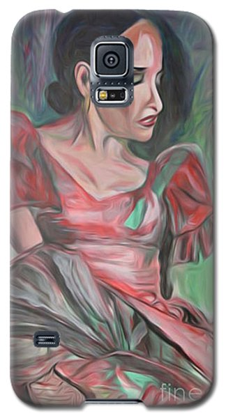 Galaxy S5 Case featuring the painting Flamenco Solo by Ecinja Art Works