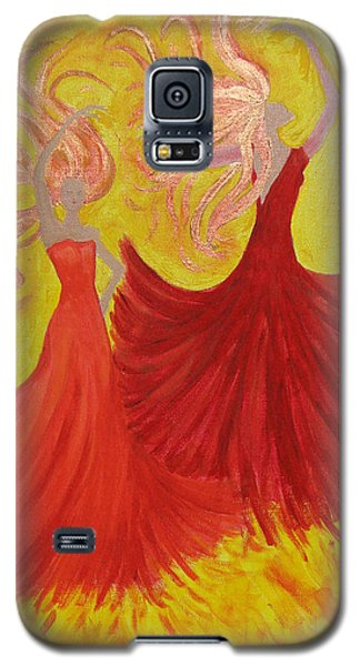 Galaxy S5 Case featuring the painting Flamenco by Stephanie Grant