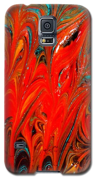 Galaxy S5 Case featuring the painting Flames by Carolyn Repka