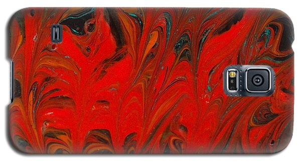 Galaxy S5 Case featuring the painting Flames II by Carolyn Repka