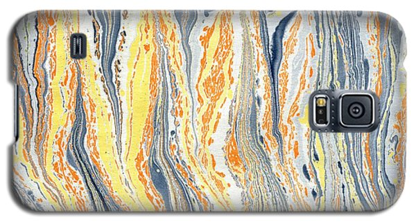 Galaxy S5 Case featuring the painting Flames by Menega Sabidussi