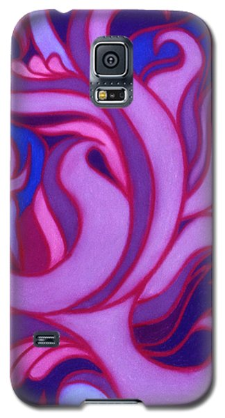 Galaxy S5 Case featuring the pastel Flames by Susan Will