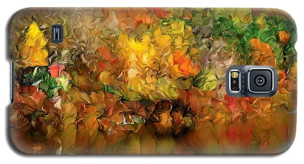 Flaming Autumn Abstract Galaxy S5 Case