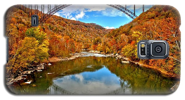 Flaming Fall Foliage At New River Gorge Galaxy S5 Case