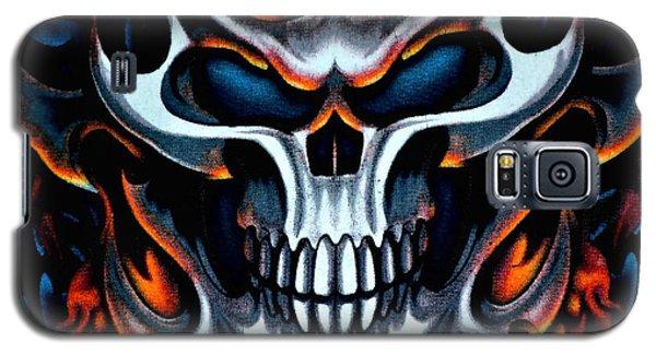 Flaming Skull Galaxy S5 Case