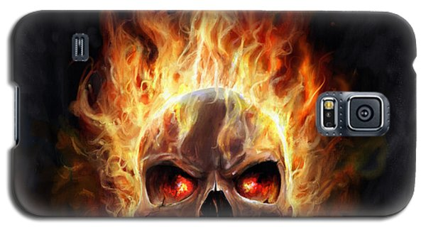 Flaming Skull Galaxy S5 Case