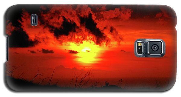 Flaming Sunset Galaxy S5 Case