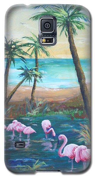 Flamingo Beach Galaxy S5 Case