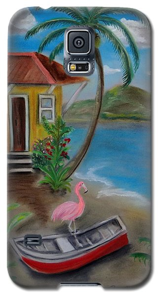 Flamingo Beach Galaxy S5 Case