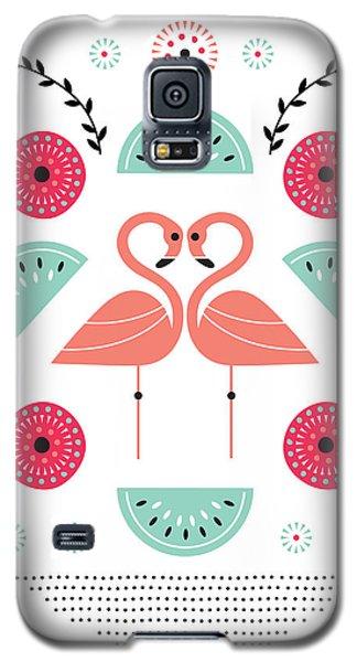 Flamingo Flutter Galaxy S5 Case by Susan Claire