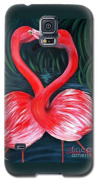 Flamingo Love Card Galaxy S5 Case