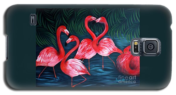 Flamingo Love. Inspirations Collection. Special Greeting Card Galaxy S5 Case