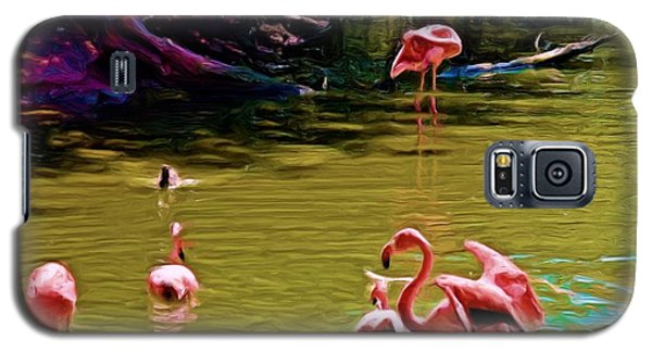 Flamingo Party Galaxy S5 Case by Luther Fine Art